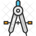 Compass Divider Geometry Icon