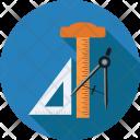 Divider Protractor Compass Icon