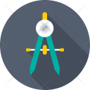Divider Compass Geometry Icon
