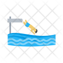 Jumping Water Diving Icon