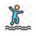 Jumping Water Swimming Icon