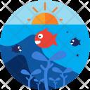 Diving Underwater Fish Icon