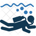 Diver Diving Recreation Icon
