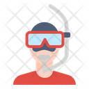 Diving Diver Snorkeling Icon