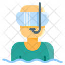 Flat Diving Mask Icon