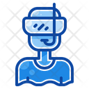 Filled Line Diving Mask Icon