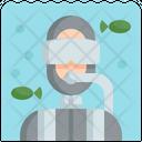 Diving Scuba Diver Icon