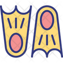 Diving Fins Flippers Icon