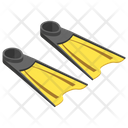 Diving Flipper Icon