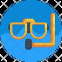 Diving Glasses Diving Gear Scuba Mask Icon