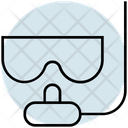 Summer Diving Mask Swimming Icon