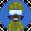 Diving Mask Soldier Uniform Icon
