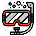 Diving Mask Snorkel Icon