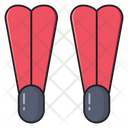 Snorkel Fins Swimming Icon