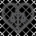 Divorce Law Marriage Icon