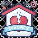 Divorce Breakup Seperation Icon