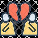 Divorce Breakup Couple Icon