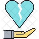 Divorce Insurance Divorce Heart Break Icon