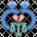 Divorced Relationship Maritalstatus Icon