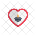 Diwali Diva Heart Icon