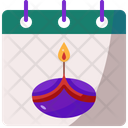 Calendar Diwali Cultures Icon