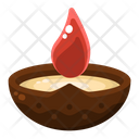 Diya Light Fire Icon
