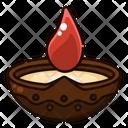 Diya Light Flame Icon