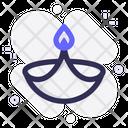 Light Diwali Candle Icon