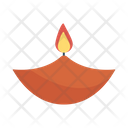 Diya Flame Candle Icon