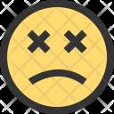 Dizzy Sad Emoji Icon
