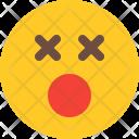 Dizzy Face Smiley Icon