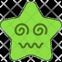 Dizzy Emoticon Star Icon