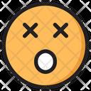 Dizzy Emoji Expression Icon