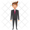 Dizzy Businessman Icon