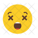 Kissing Face Confused Smiling Icon