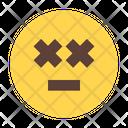 Dizzy Meh Emoticon Smileys Icon