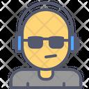 Dj Headphones Music Icon