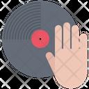 Hand Vinyl Record Icon