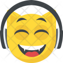 Dj Emoticon Headphones Icon