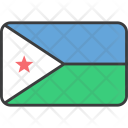 Djibouti African Country Icon