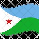 Flag Country Djibouti Icon