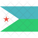 Djibouti National Country Icon