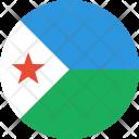 Djibouti Flag Country Icon
