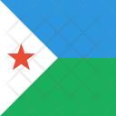 Djibouti Flag World Icon
