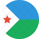 Djibouti Flag World Icon