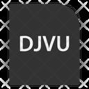 Djvu File Extension Icon