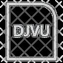 Djvu Extension File Icon