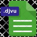 Djvu File Document Icon