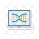 Dna Laptop Molecules Icon