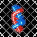 Dna Code Isometric Icon
